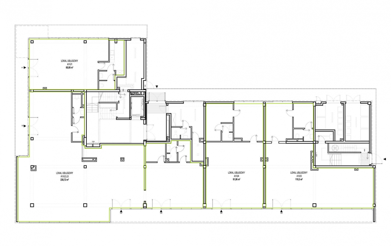 Etap 1 - Budynek A - Lokale usługowe
