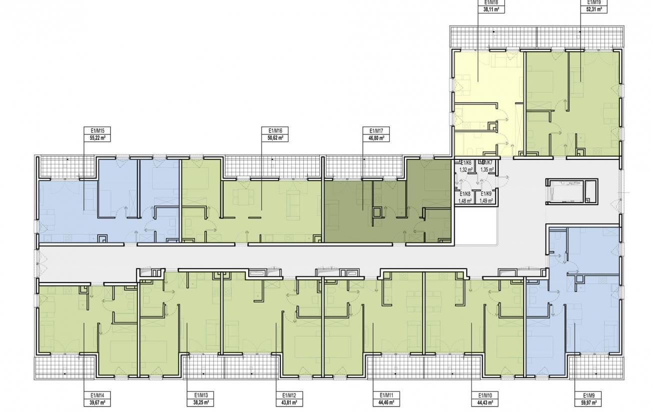 Etap 1 - Budynek E - Piętro 1