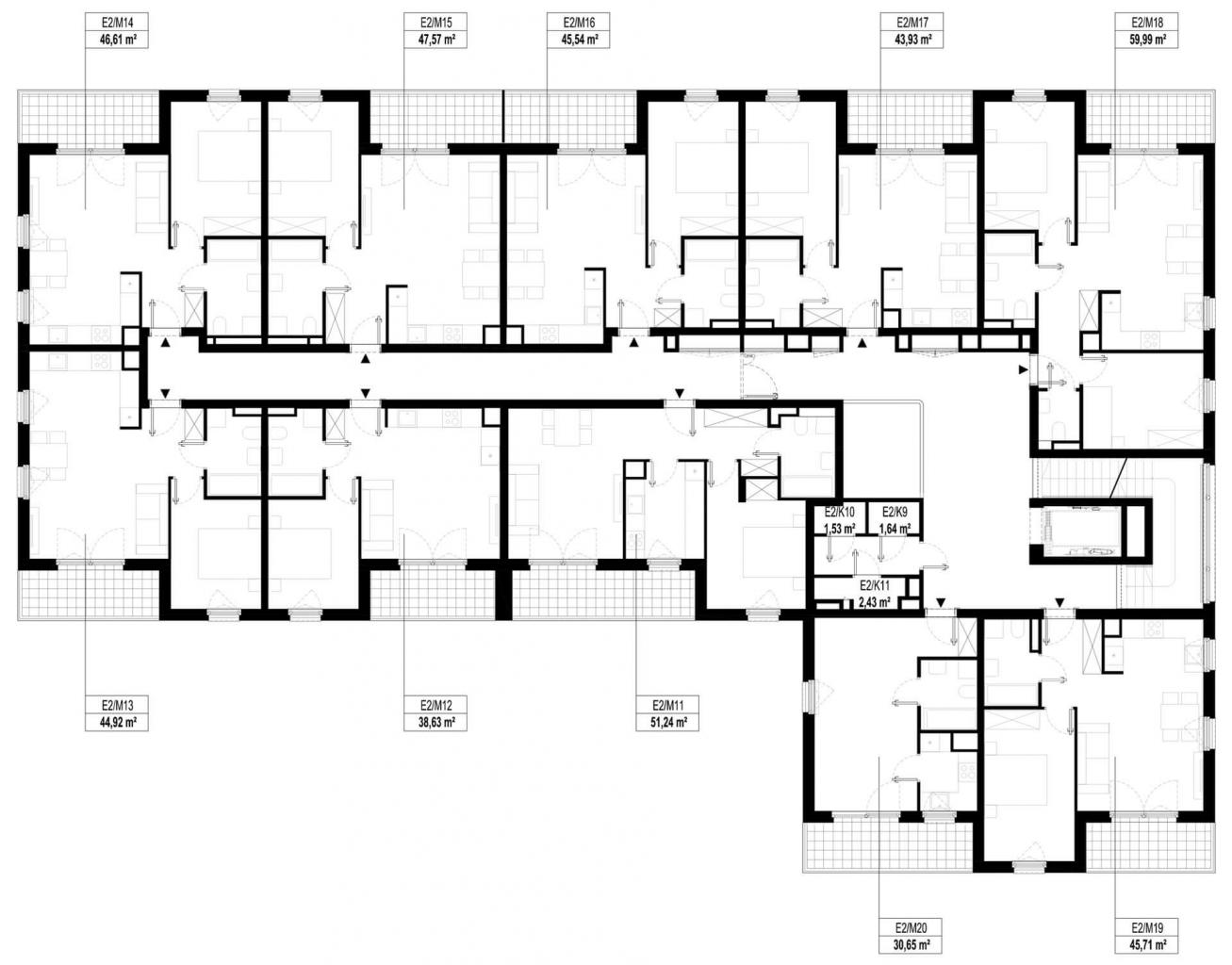 Etap 2 - Budynek E - Piętro 1