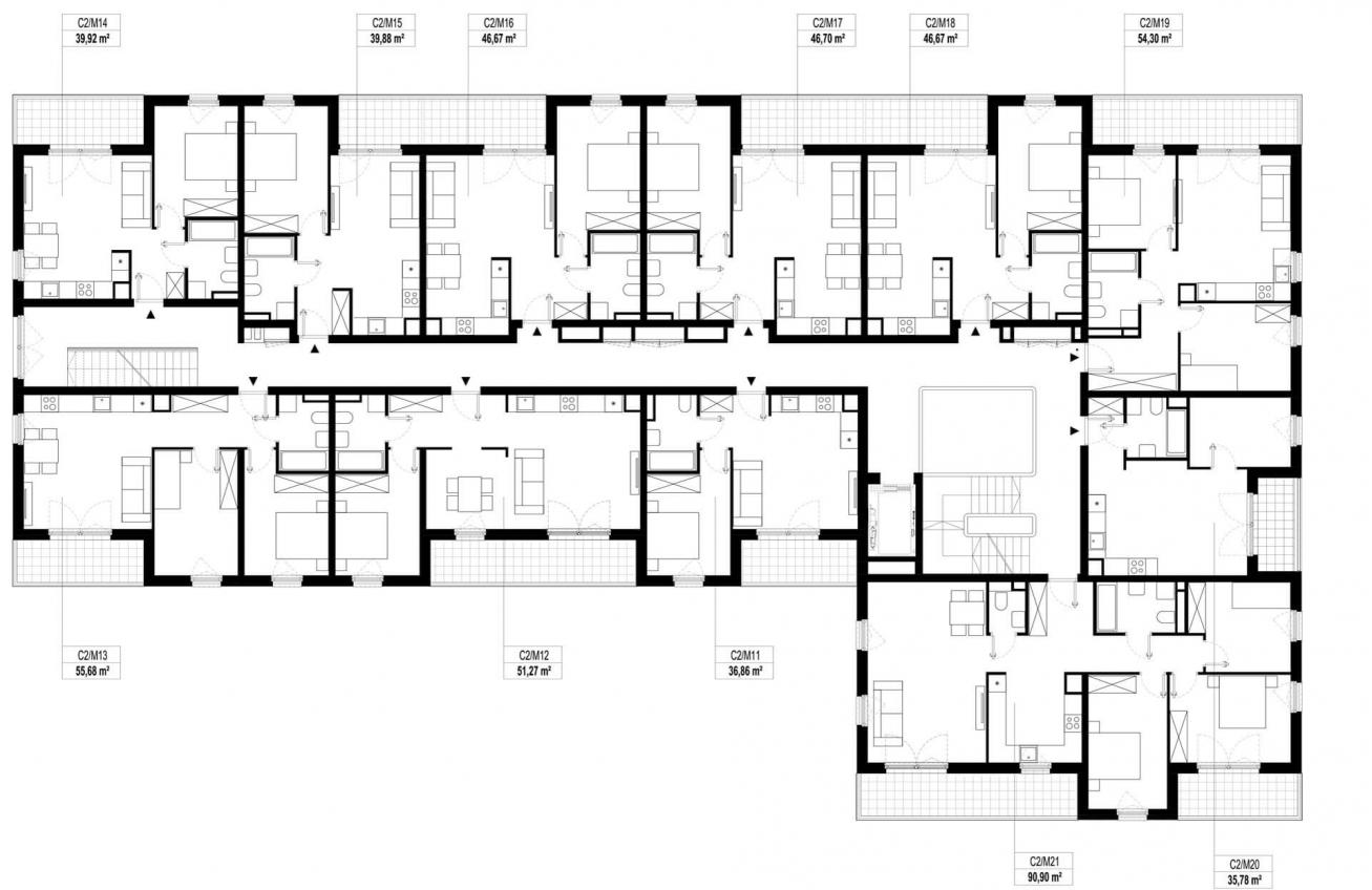 Etap 2 - Budynek C - Piętro 1