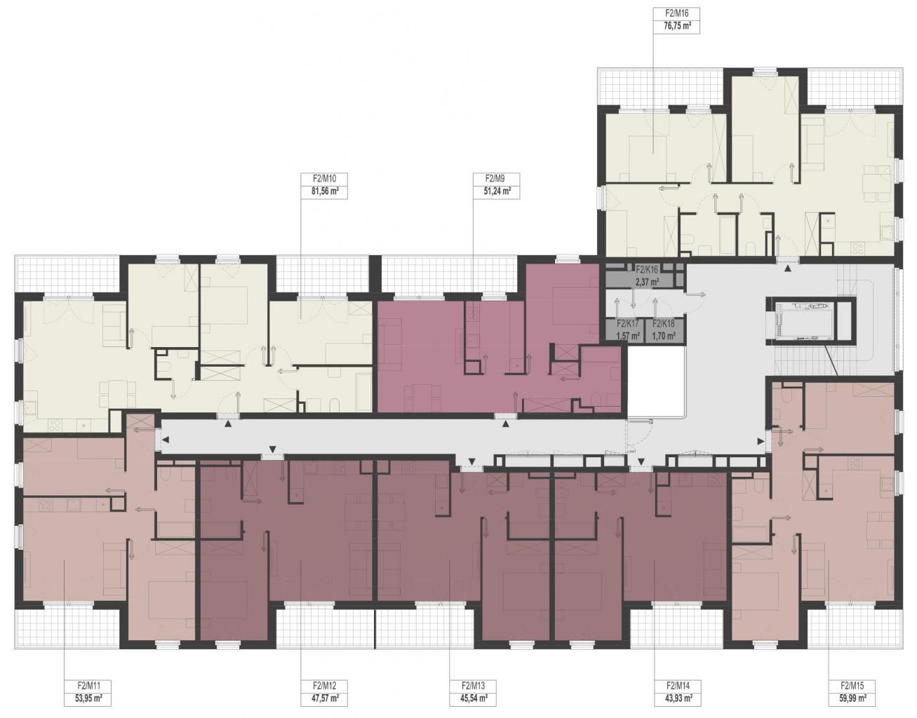 Etap 2 - Budynek F - Piętro 1