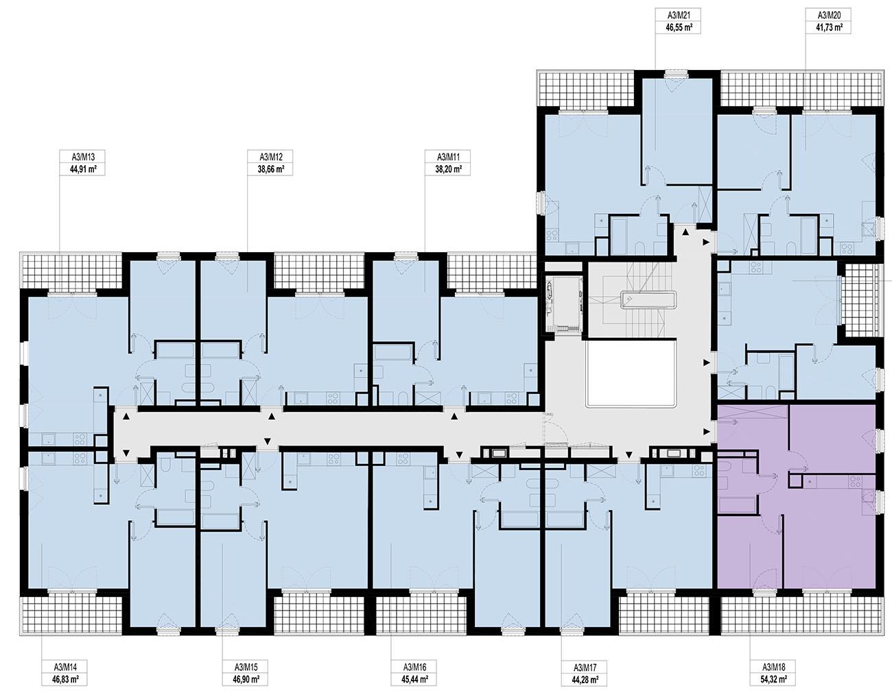 Etap 3 - Budynek A - Piętro 1
