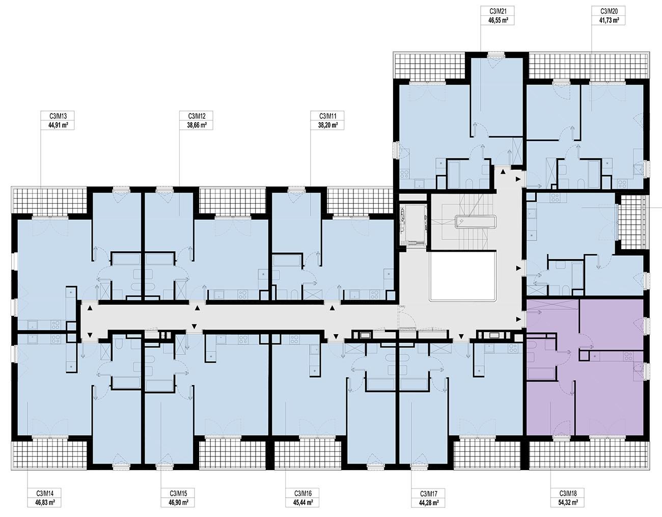 Etap 3 - Budynek C - Piętro 1