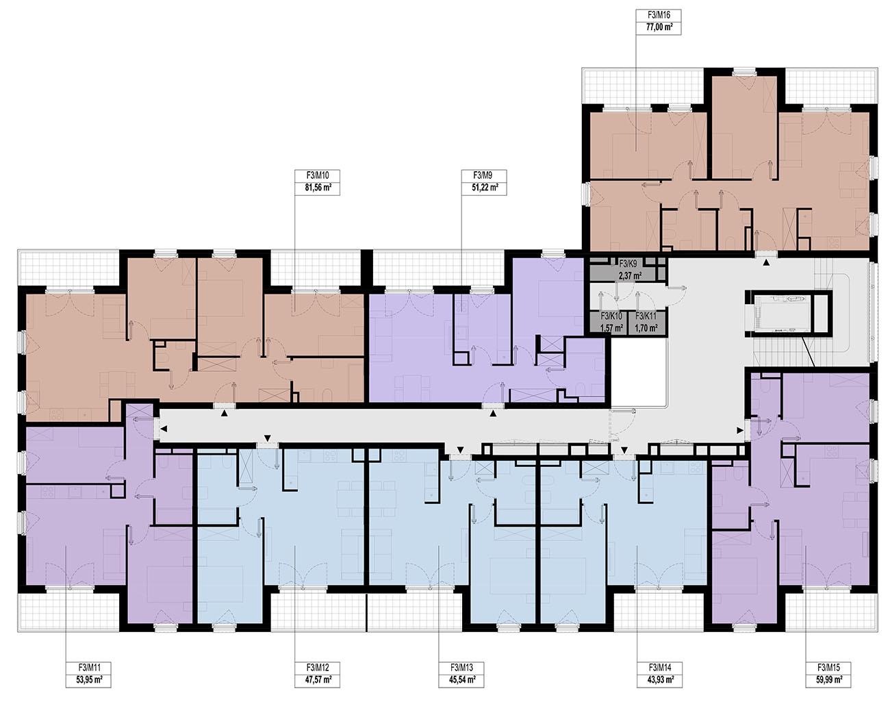 Etap 3 - Budynek F - Piętro 1