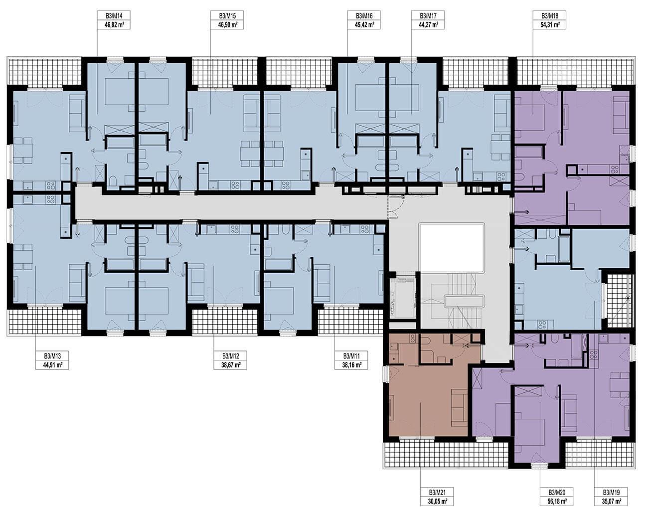 Etap 3 - Budynek B - Piętro 1
