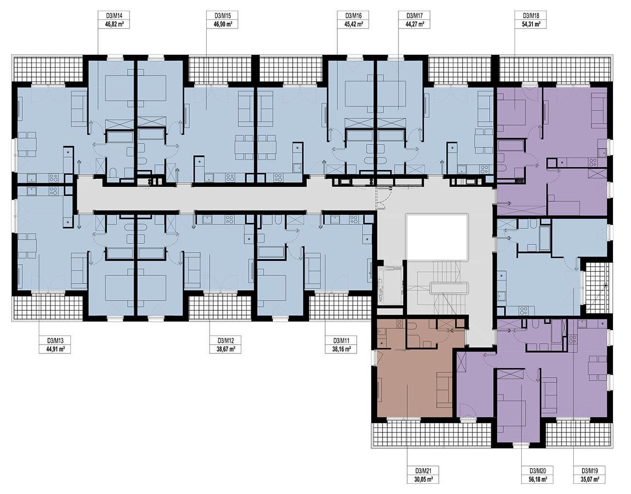 Etap 3 - Budynek D - Piętro 1