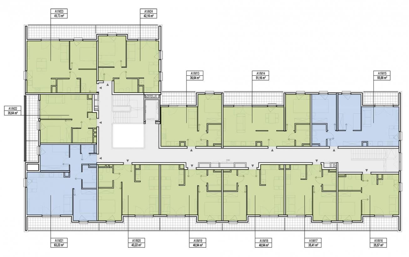 Etap 1 - Budynek A - Piętro 2