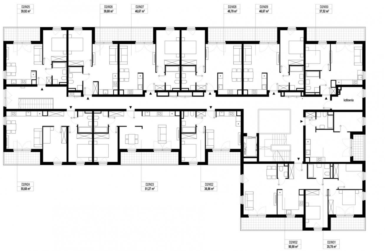 Etap 2 - Budynek D - Piętro 2