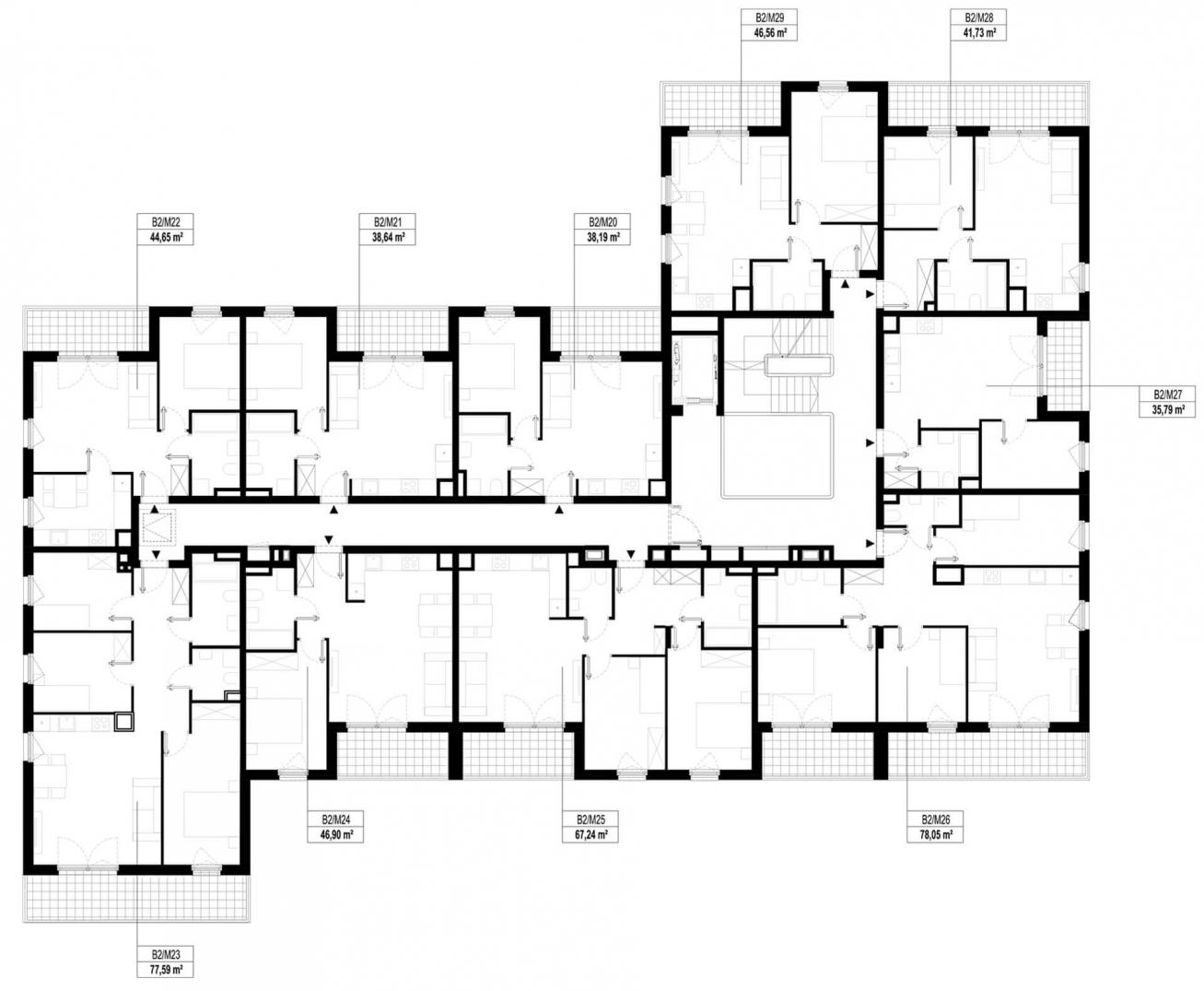 Etap 2 - Budynek B - Piętro 2
