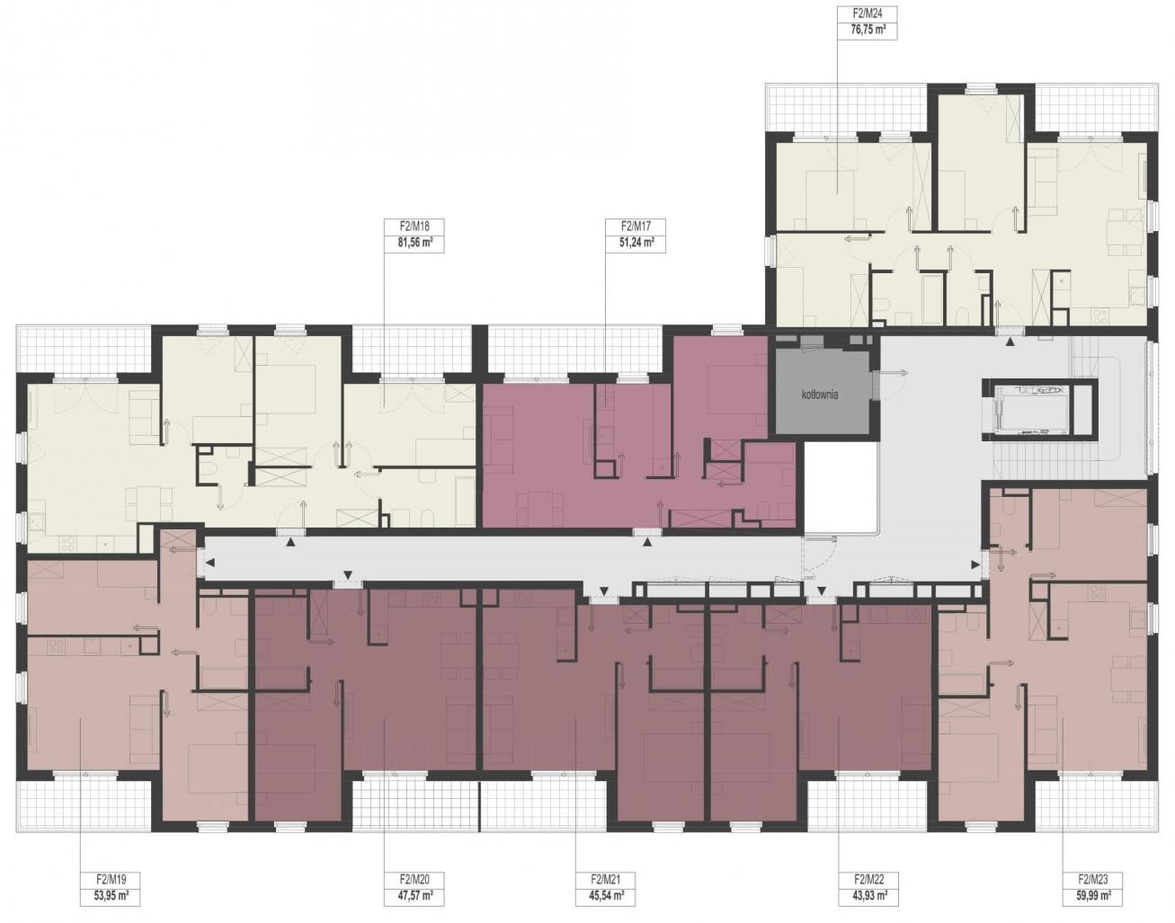 Etap 2 - Budynek F - Piętro 2