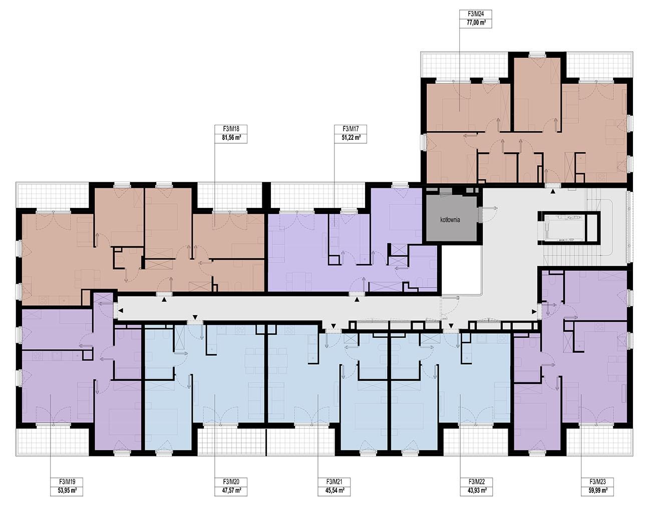 Etap 3 - Budynek F - Piętro 2