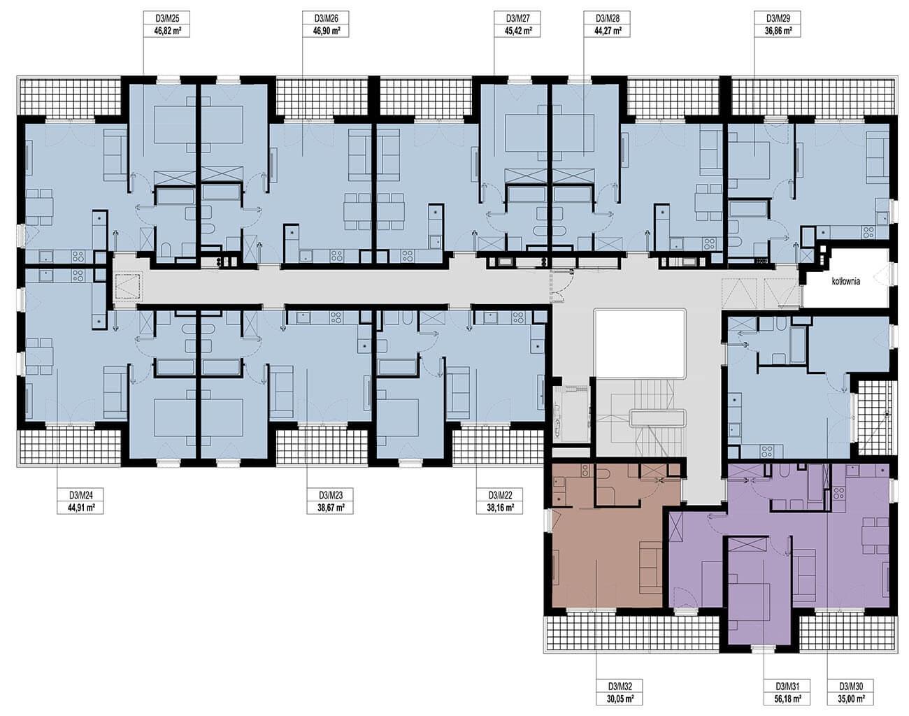 Etap 3 - Budynek D - Piętro 2