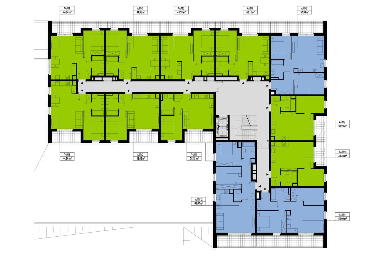 Etap 4 - Budynek A - Piętro 1