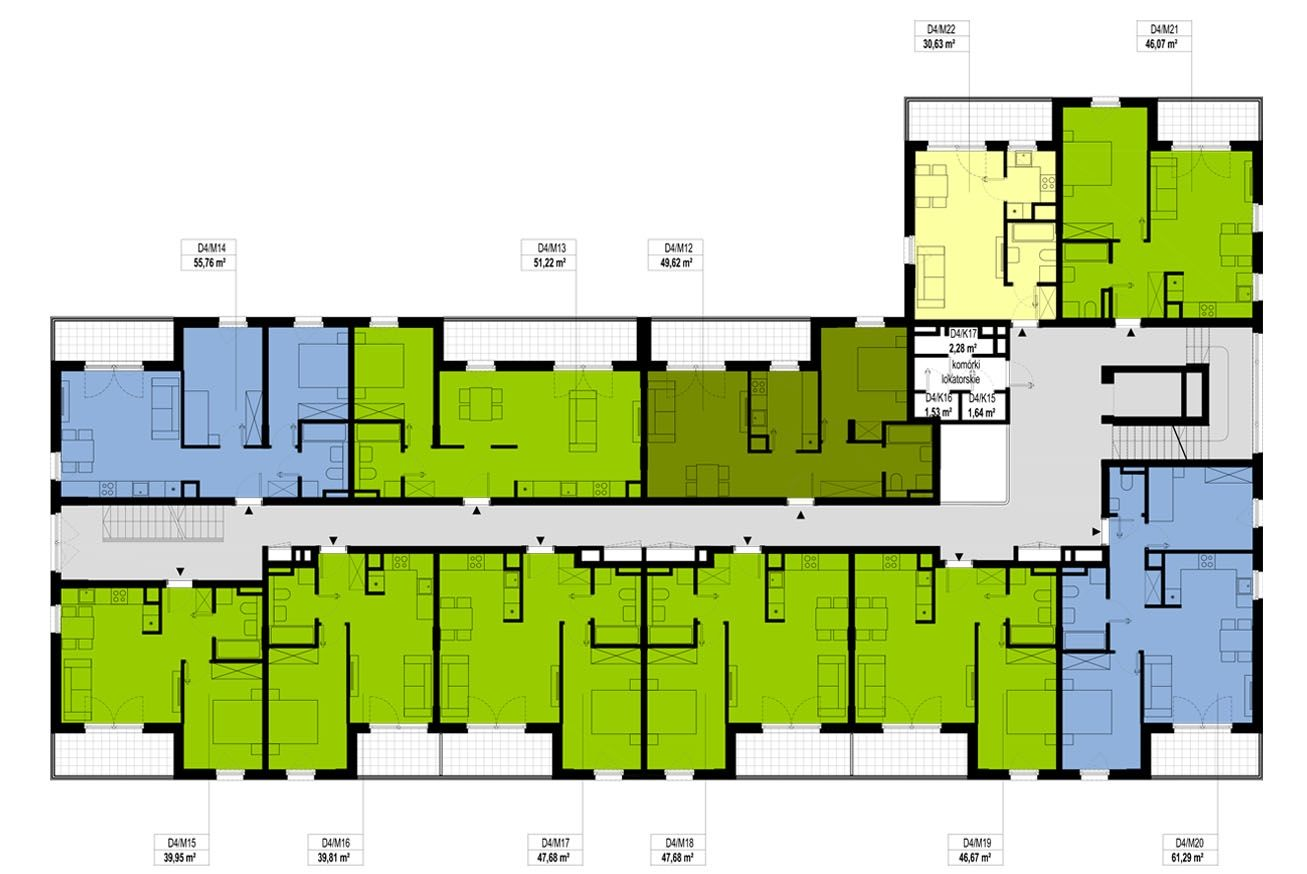 Etap 4 - Budynek D - Piętro 1