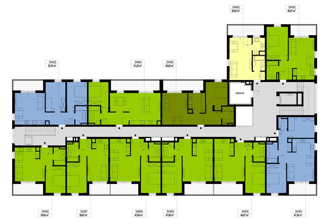 Etap 4 - Budynek D - Piętro 2