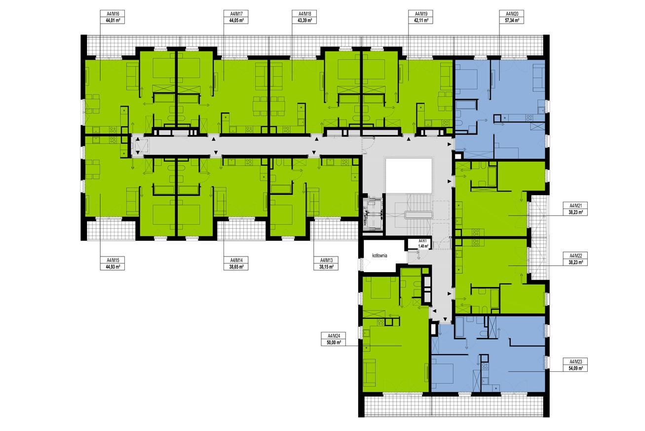 Etap 4 - Budynek A - Piętro 2