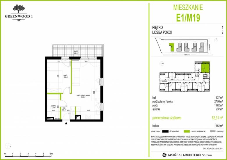 Mieszkanie E1/M19