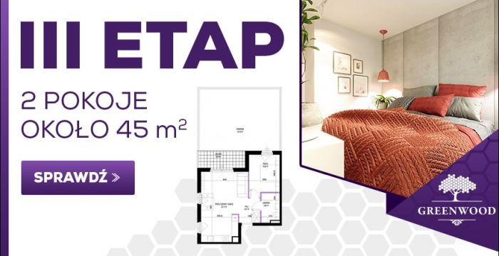 2 pokoje około 45 m2